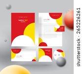 corporate identity design... | Shutterstock .eps vector #265226261