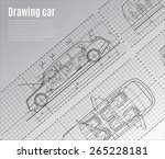 detailed drawings of cars ... | Shutterstock .eps vector #265228181