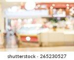 blur cafe with bokeh light... | Shutterstock . vector #265230527