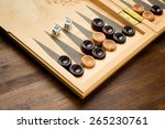 Backgammon Set With Dice On...