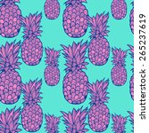beautiful graphically pineapple ... | Shutterstock .eps vector #265237619