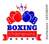 vintage logo for a boxing on... | Shutterstock .eps vector #265238549