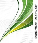 green vector swoosh. abstract... | Shutterstock .eps vector #265242539
