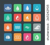 drop icon set | Shutterstock .eps vector #265242935