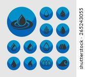 drop icon set  | Shutterstock .eps vector #265243055