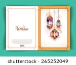 greeting card decorated with... | Shutterstock .eps vector #265252049
