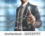 businessman with financial... | Shutterstock . vector #265254797