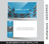 business card template with... | Shutterstock .eps vector #265255925