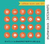 modern flat material office... | Shutterstock .eps vector #265264691
