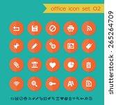modern flat material office... | Shutterstock .eps vector #265264709