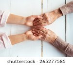 unrecognizable grandmother and...   Shutterstock . vector #265277585
