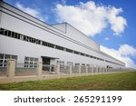 white modern factory building | Shutterstock . vector #265291199