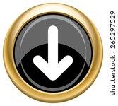 down arrow icon. internet... | Shutterstock .eps vector #265297529