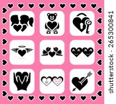 love and couple related  icon... | Shutterstock . vector #265300841