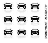 automobile  icon set | Shutterstock . vector #265306349
