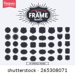 40 Vintage Premium Styled designer frame and shapes - Designers Collection | Shutterstock vector #265308071