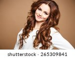 close up portrait of beautiful... | Shutterstock . vector #265309841