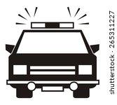 police car | Shutterstock .eps vector #265311227