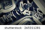 Car Engine V8. Close Up Abstact ...