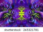 Abstract Dark Vivid Original...