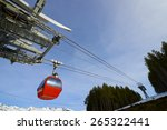 Cable Car At A Ski Resort In...