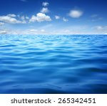 blue sea water surface on sky | Shutterstock . vector #265342451