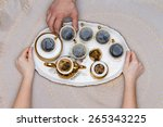 six small cups of turkish... | Shutterstock . vector #265343225