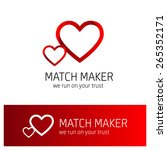 match maker logo. creative love ... | Shutterstock .eps vector #265352171