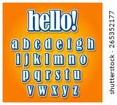 creative font type on orange... | Shutterstock .eps vector #265352177