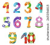 numbers like robots in fairy... | Shutterstock .eps vector #265356815