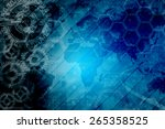digital abstract business... | Shutterstock . vector #265358525