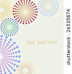 vector dotted flowers... | Shutterstock .eps vector #26535874