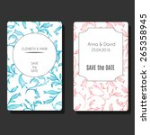 vector card template set with... | Shutterstock .eps vector #265358945