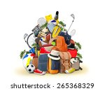 vacation and travel  a huge... | Shutterstock . vector #265368329