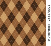 argyle basic seamless texture... | Shutterstock .eps vector #265370021