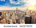 new york city manhattan at... | Shutterstock . vector #265373555