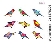 set of different birds bird... | Shutterstock .eps vector #265378205