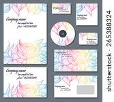 set of templates for cd disks ...   Shutterstock .eps vector #265388324