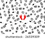 seamless illustration of foot... | Shutterstock .eps vector #26539309