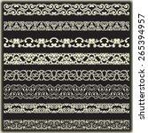 vintage border set for design    Shutterstock .eps vector #265394957