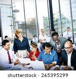 business people office working... | Shutterstock . vector #265395299