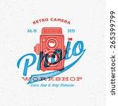 retro camera photo workshop... | Shutterstock .eps vector #265399799