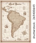 south america map vector  | Shutterstock .eps vector #265400645