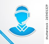 support people flat icon... | Shutterstock .eps vector #265401329