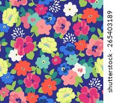 cute ditsy floral seamless... | Shutterstock .eps vector #265403189
