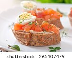 Sandwich With Salted Salmon An...
