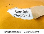 new life  chapter 3 concept | Shutterstock . vector #265408295