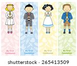 set first communion  | Shutterstock .eps vector #265413509