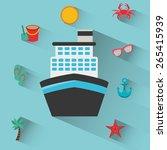 holiday travel design  vector... | Shutterstock .eps vector #265415939