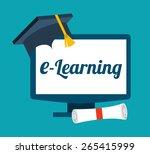 e learning concept design ... | Shutterstock .eps vector #265415999